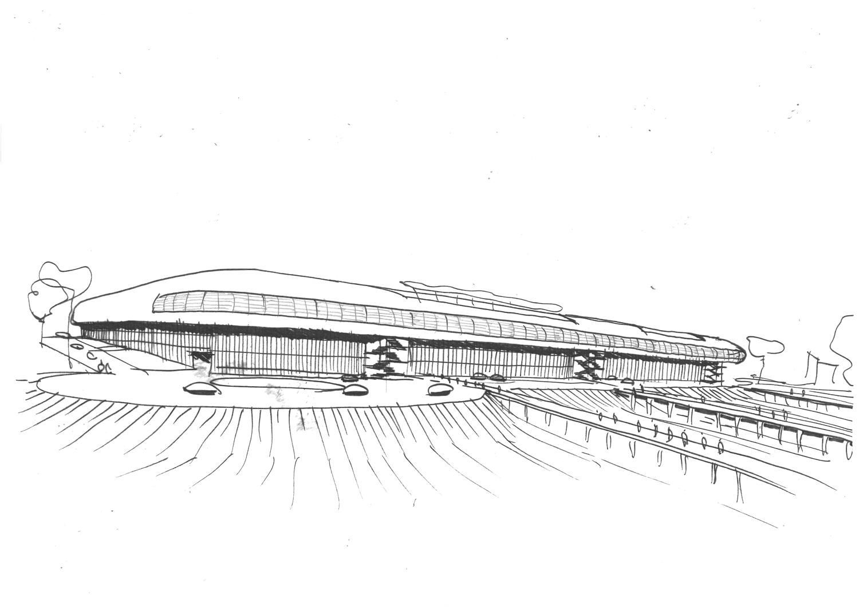 Croquis La Valentine - Silvio d'Ascia Architecture