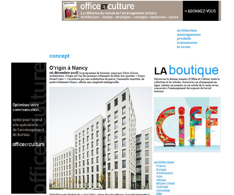 Office ET Culture | December   O'rigin, Nancy