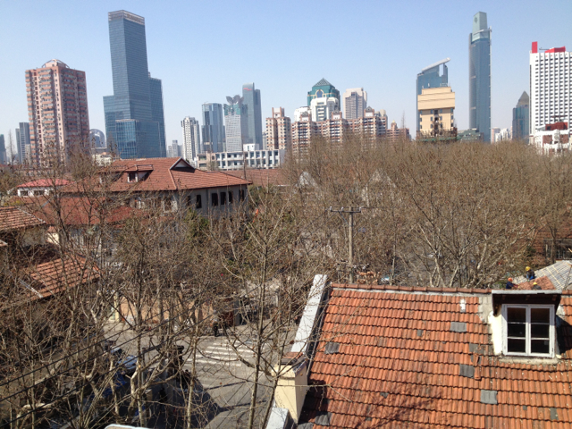The view from the roof top
