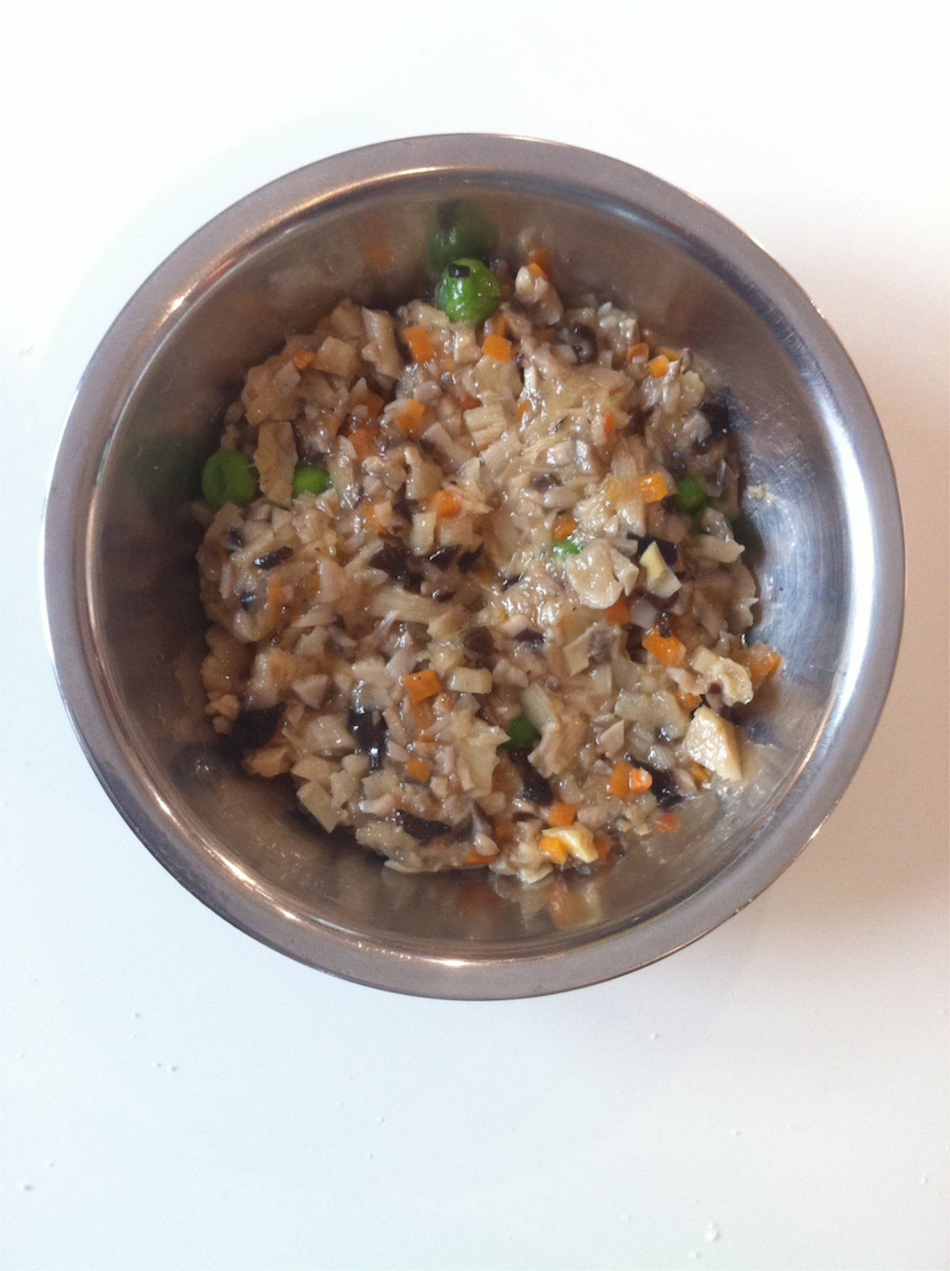 The vegetarian filling ready to use