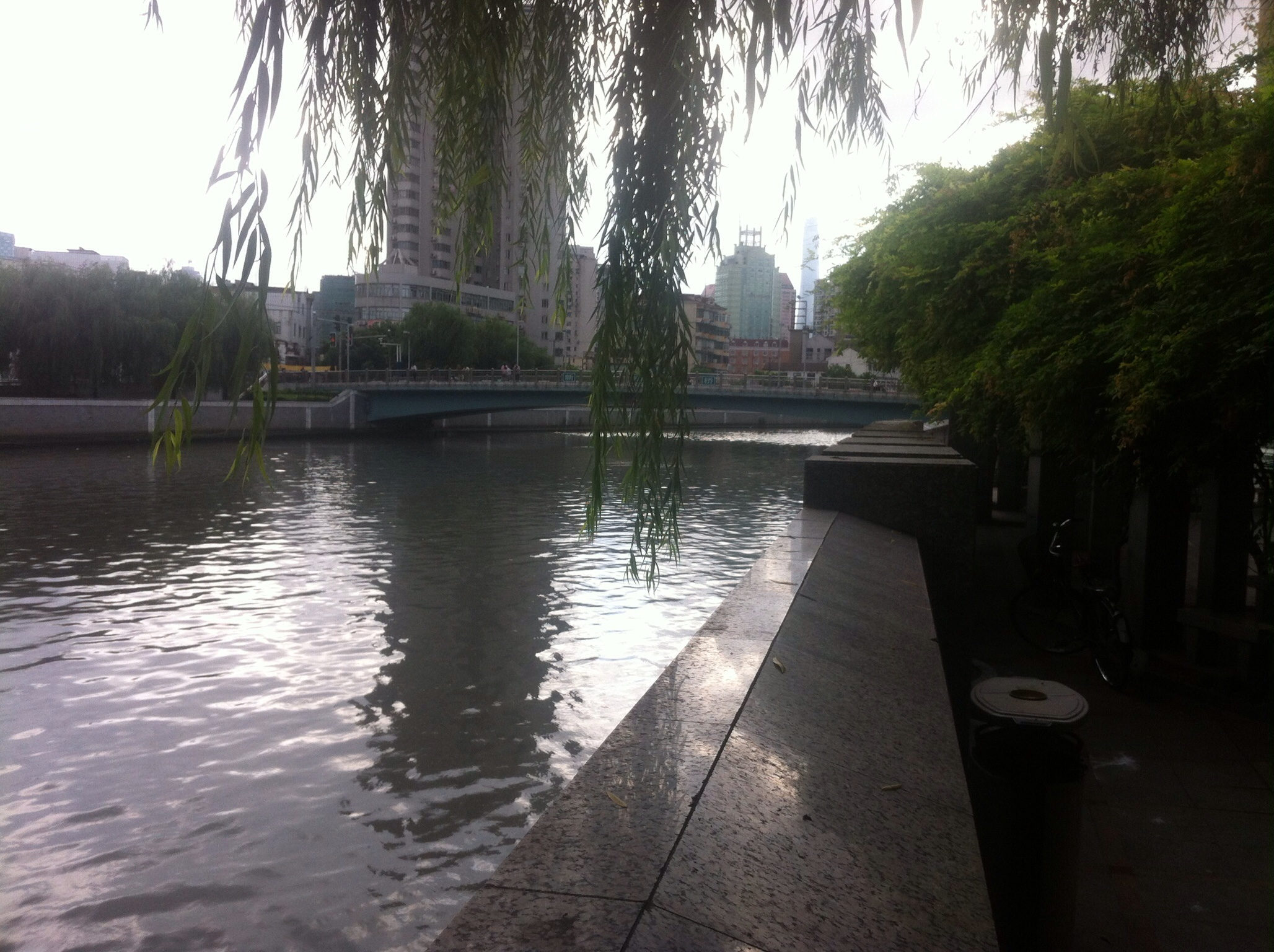 Suzhou Creek in the Jing'an-end  and where I start my runs