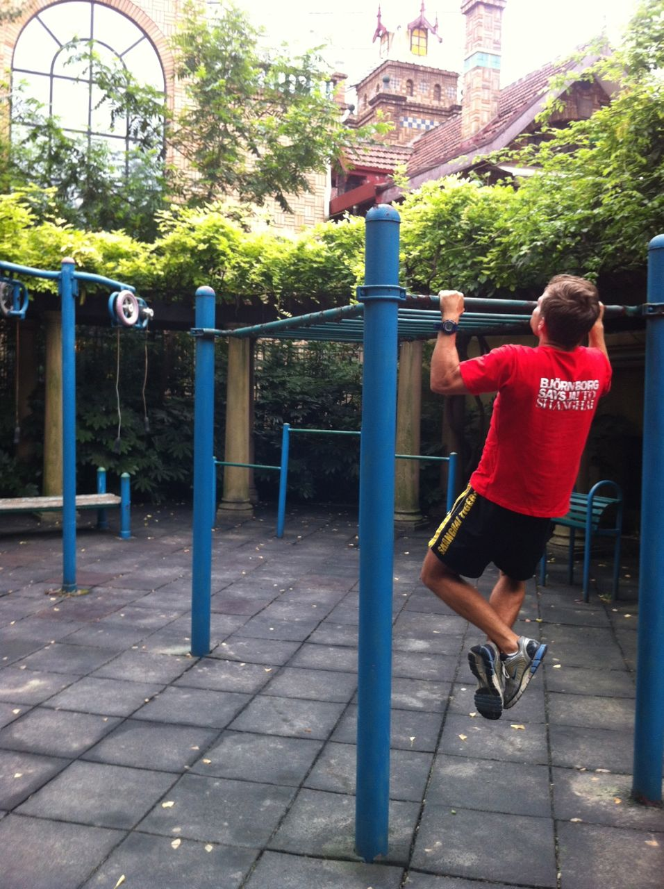 At the moment Shanghai's temperature as well as the air is fantastic for outside workouts and TABATA