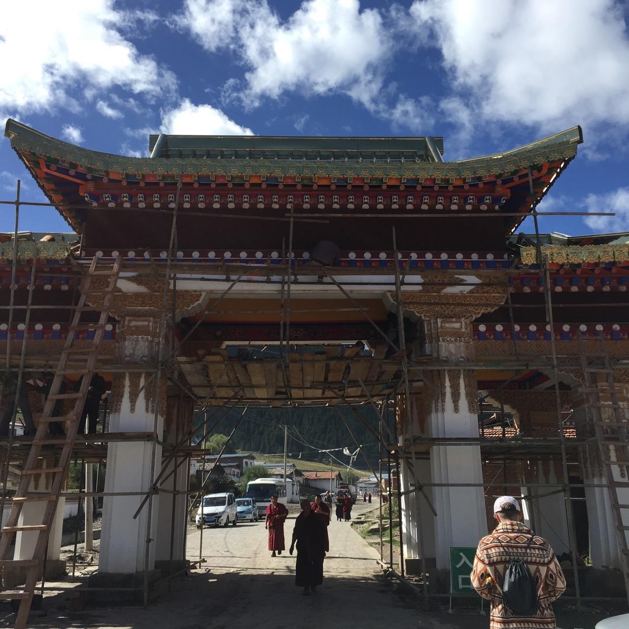 Entrance to Kirti Gompa Monastery