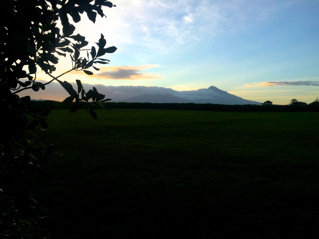 According to Māori mythology, Mount Taranaki once lived in the middle of the North Island with all the other New Zealand volcanoes. He was in love with the beautiful Pihanga but lost her to Mount Tongariro. Wounded and heart broken Taranaki headed westwards until he reached the Pouakai Ranges and as the sun came up Taranaki found himself at his new home where he lives today. If you see Taranaki covered in rainclouds, he is said to be crying for his lost love. If you see him bathing in a beautiful sunset or sunrise, he is said to be displaying himself to Pihanga. Mount Tongariro's continuously eruptive activities are said to be a warning to Taranaki not to return inlands ️