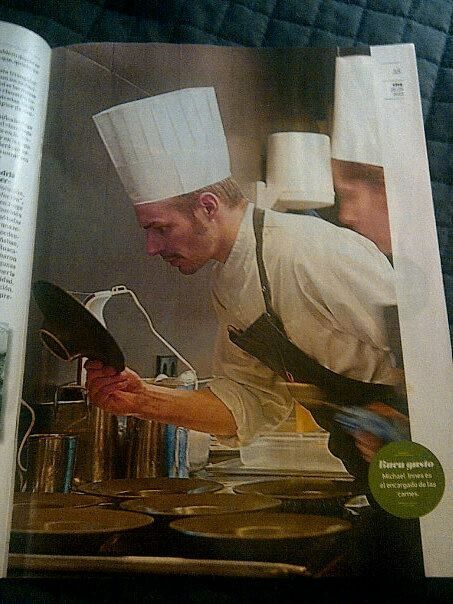 Michael cooking in Spain
