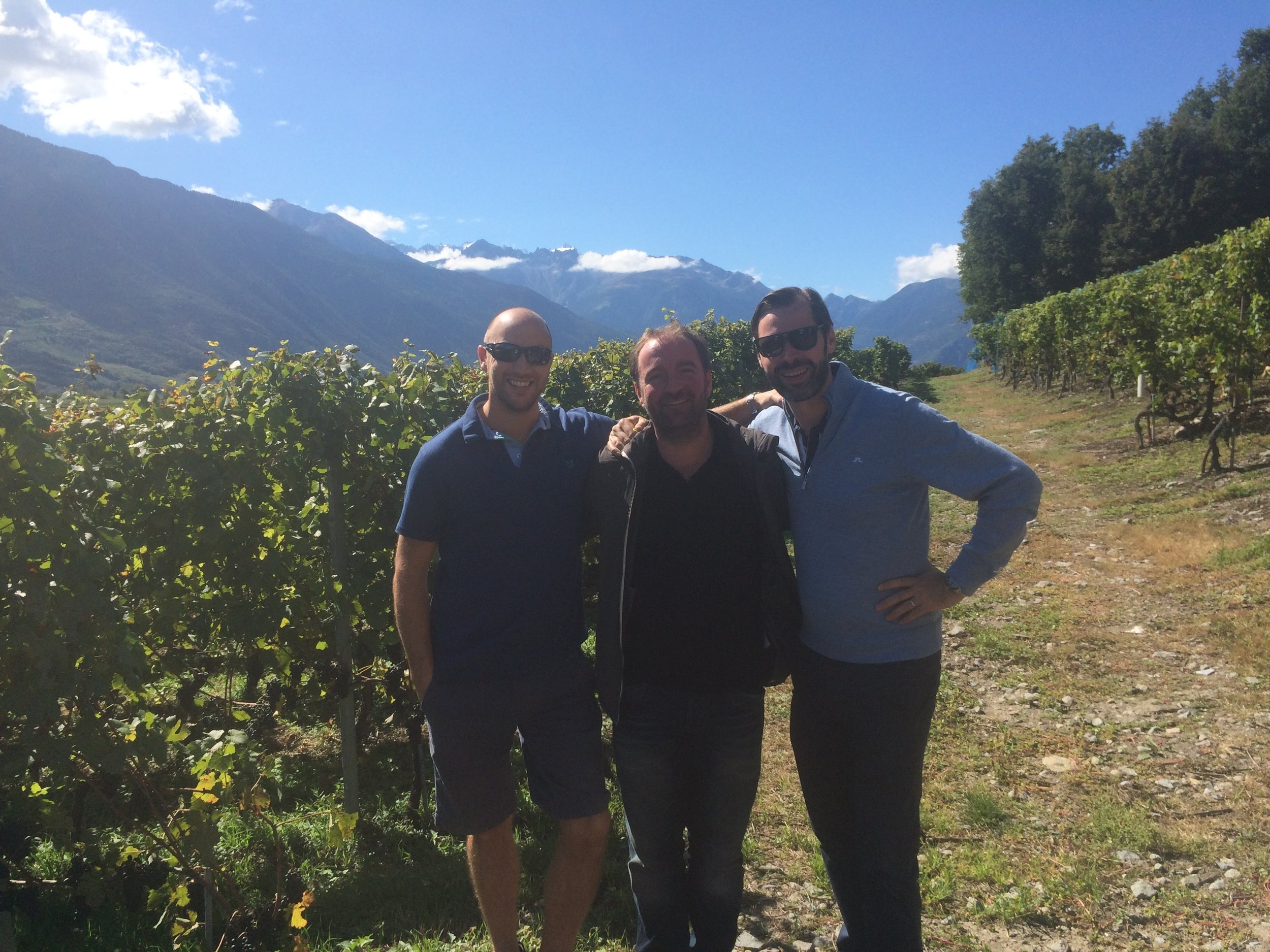 Craig, Jamie and Philippe of l'Art du Vin in Switzerland