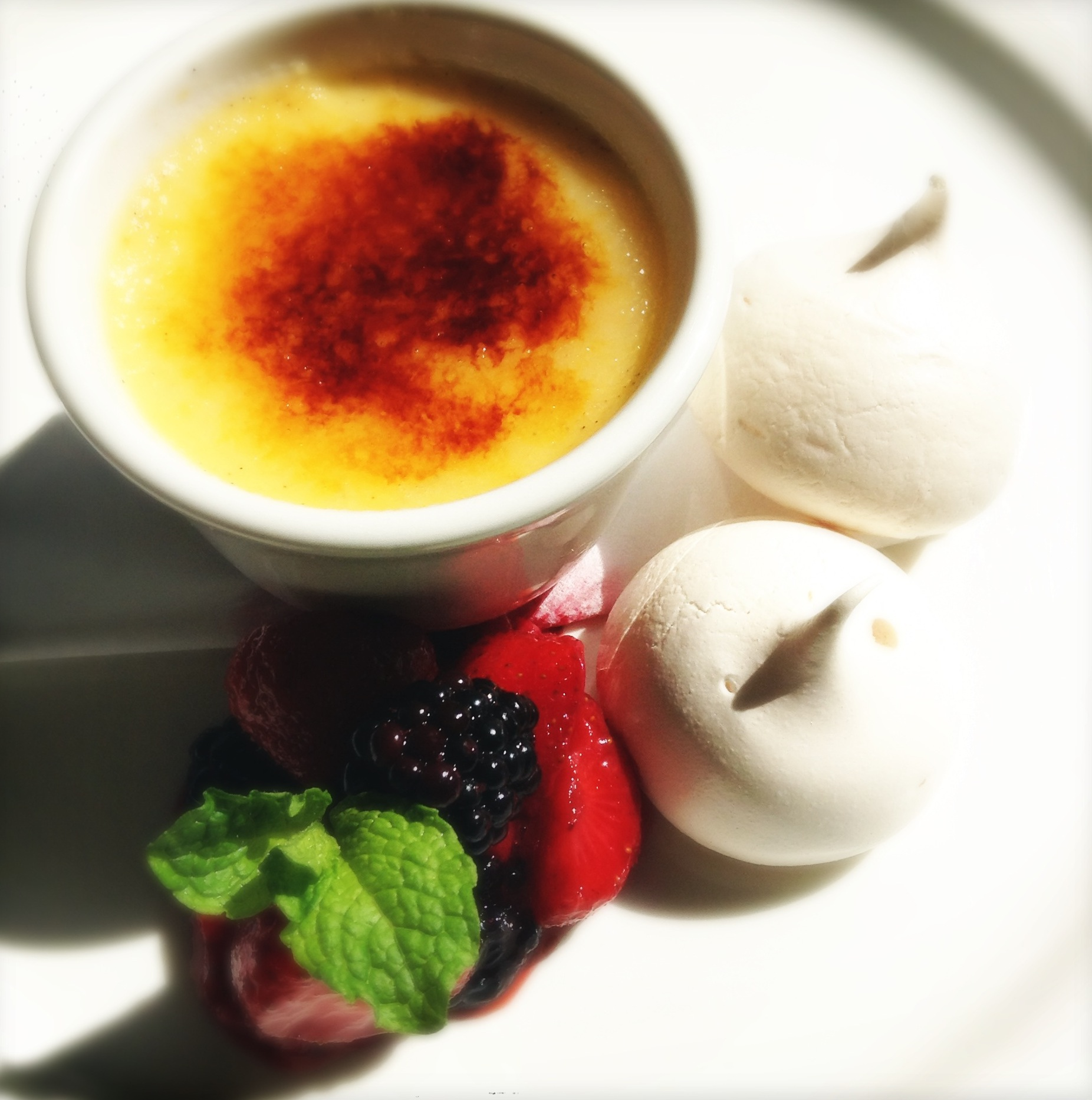 Vanilla Creme Brûlée with Mini Meringues & Blacketyside Berries 1.JPG