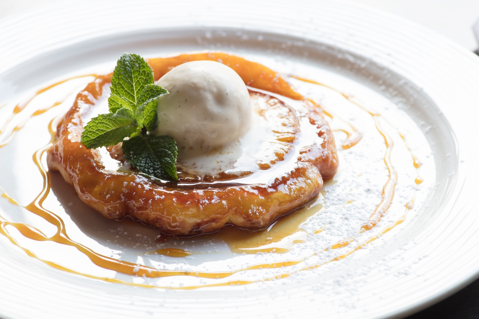 Pineapple Tarte Tatin with Home Made Coconut Ice Cream
