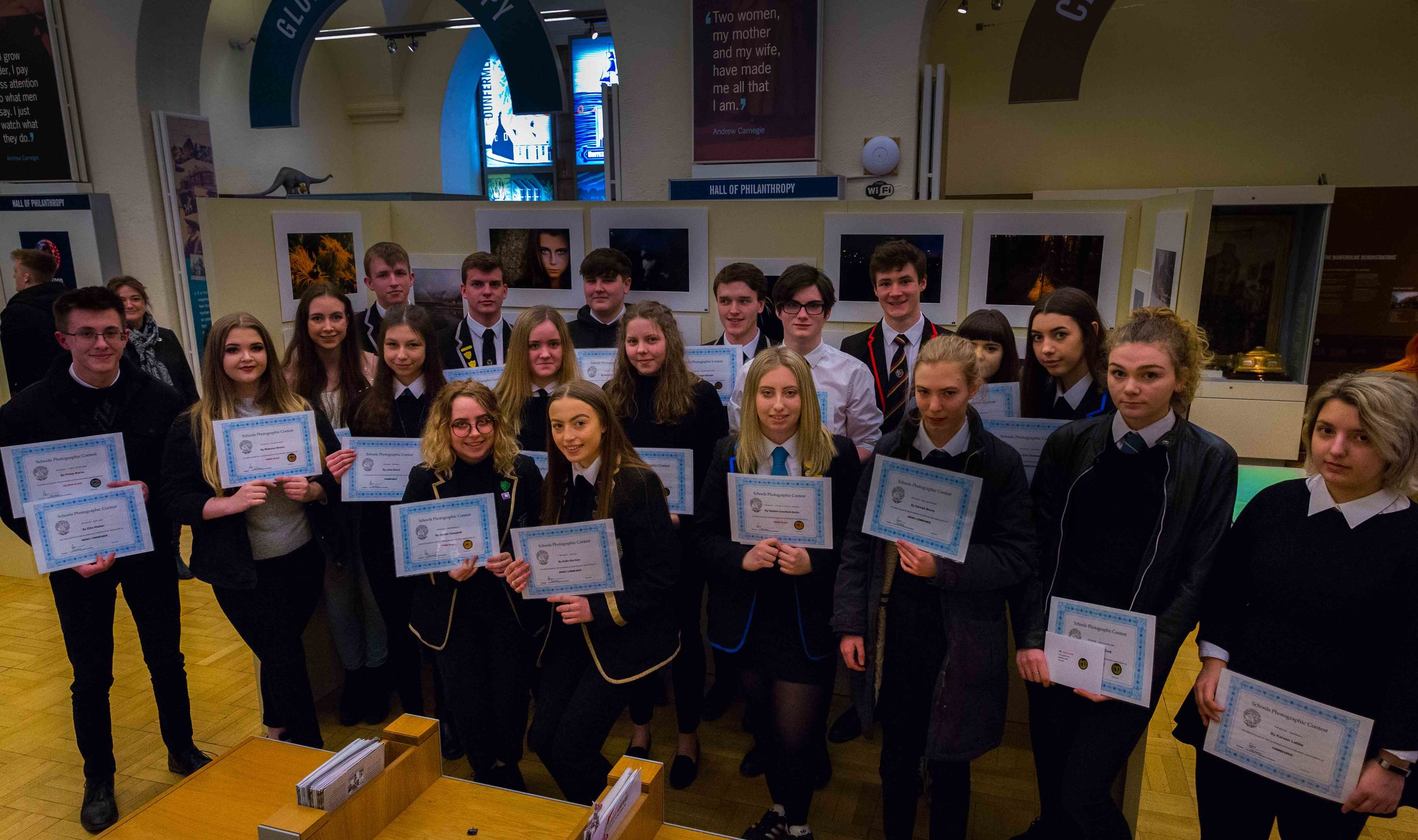 DPA PRIZE WINNERS WITH THEIR CERTIFICATES AT THE EXHIBITION LAUNCH