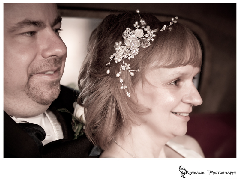 The bride and groom in Arundel