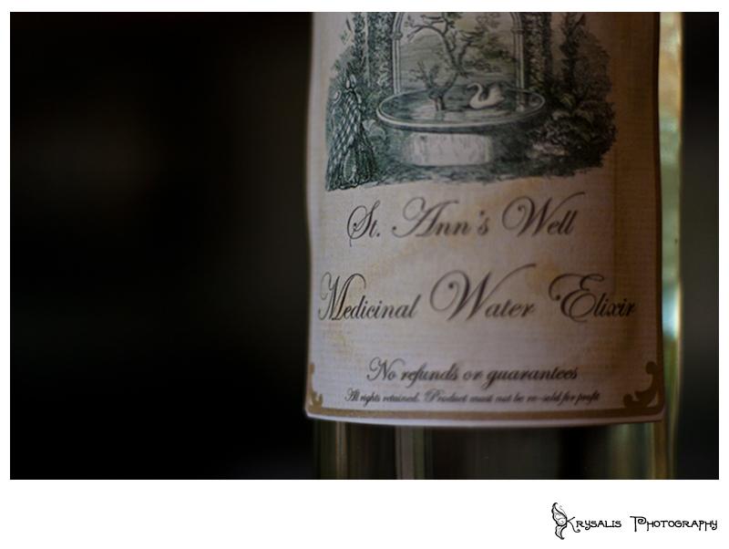 Wine Bottle at St Anns Well Gardens Murder Mystery