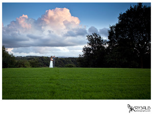 Bride & Groom at Hyde Bank Farm