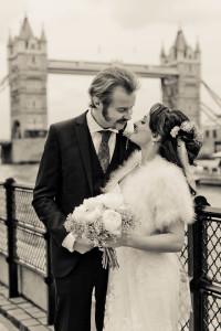 Vix & Rory near Tower Bridge in London