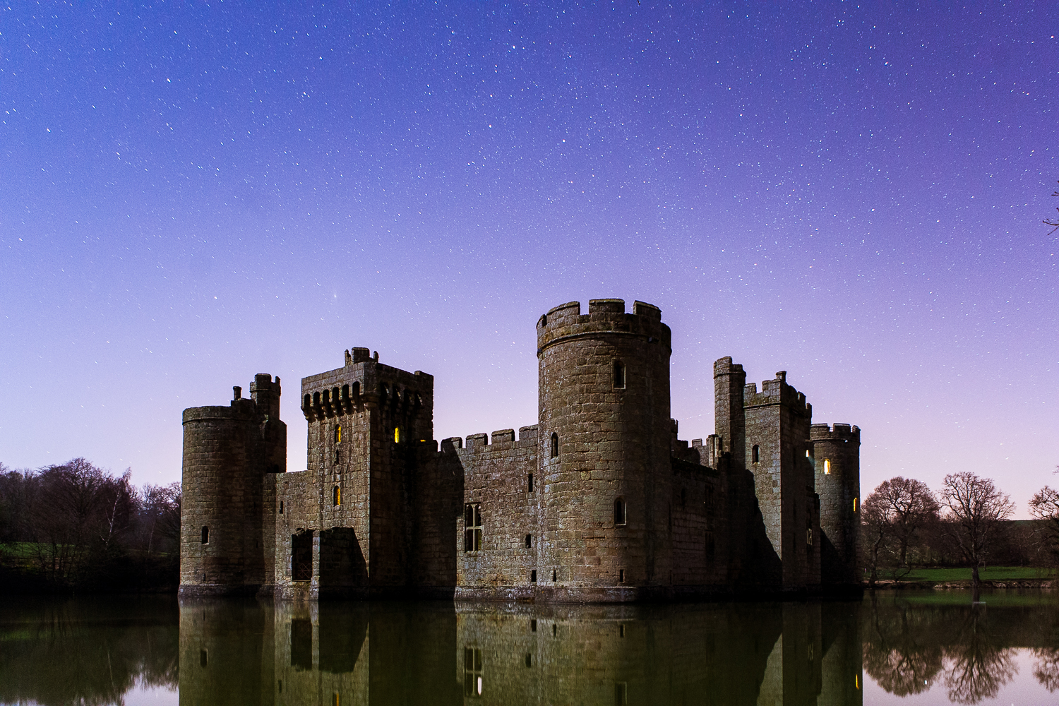 Bodiam Castle (1x 30 second exposure ISO 4000 - testing the frame)