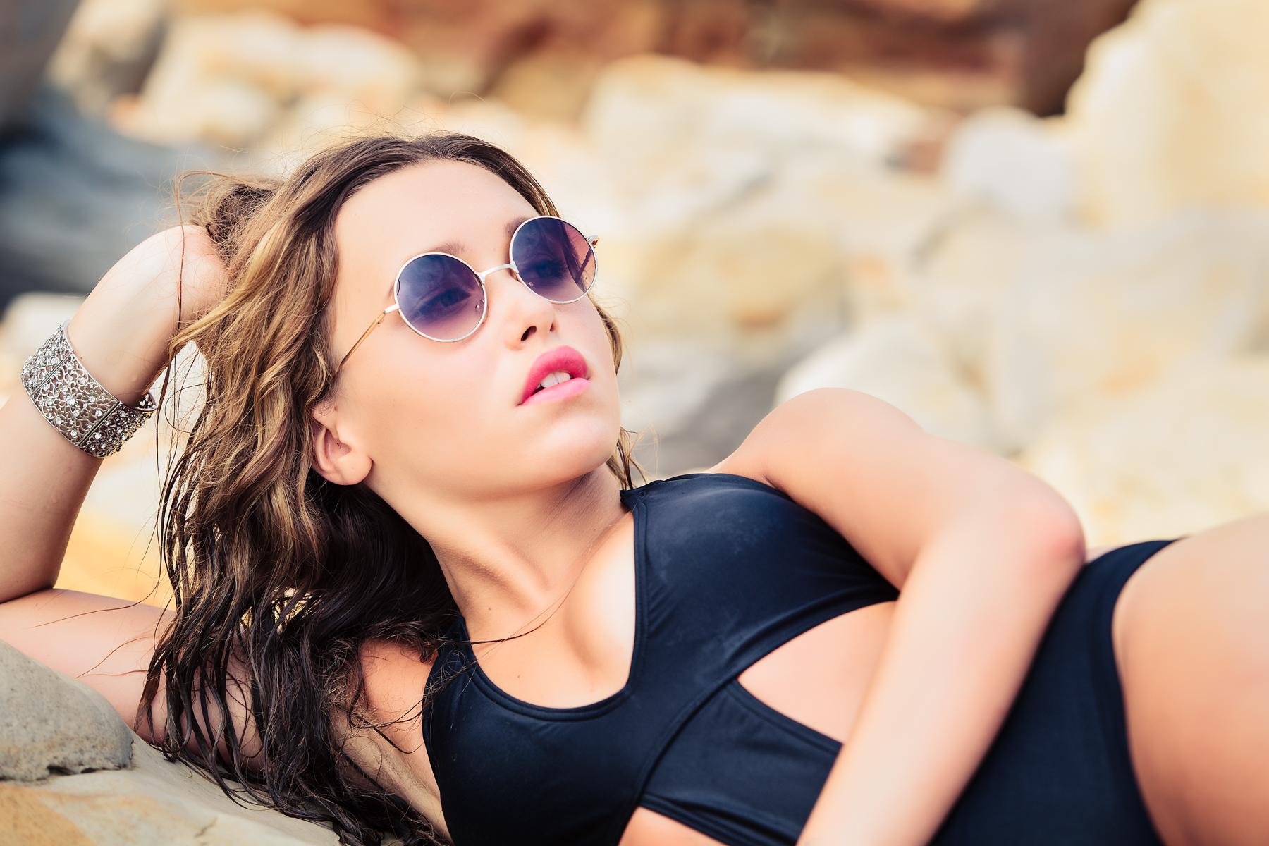 Girl in bikini on a beach