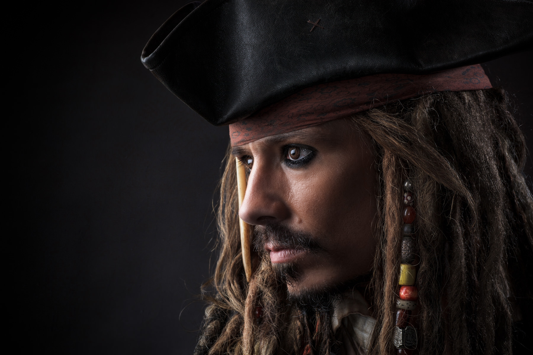 Close up of Jack Sparrow