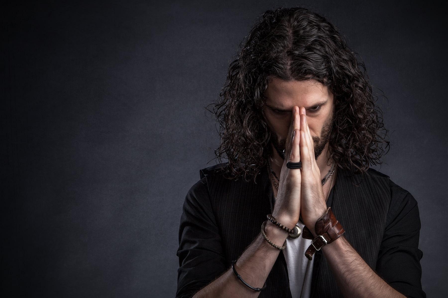 Male praying