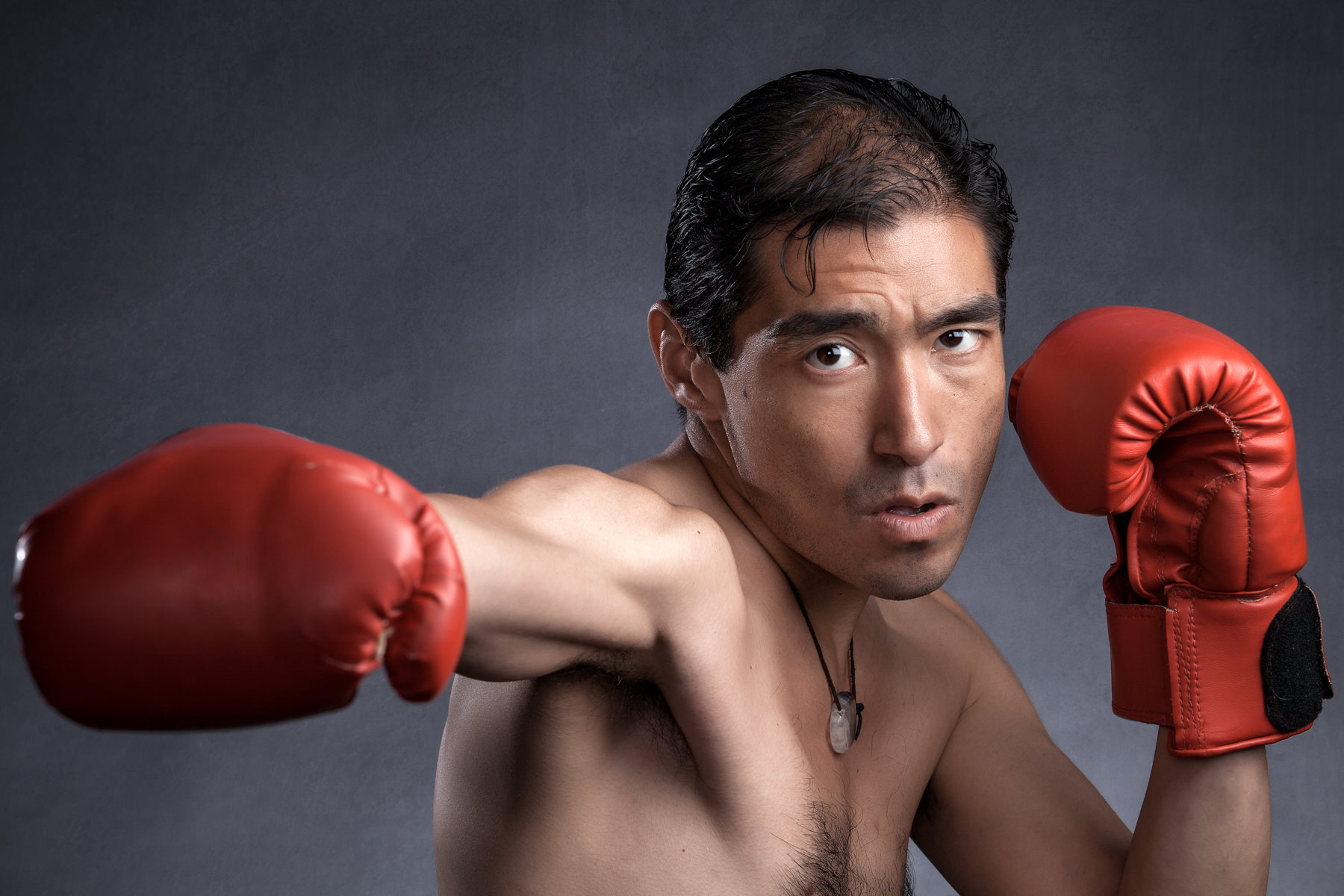 Male in boxing gloves
