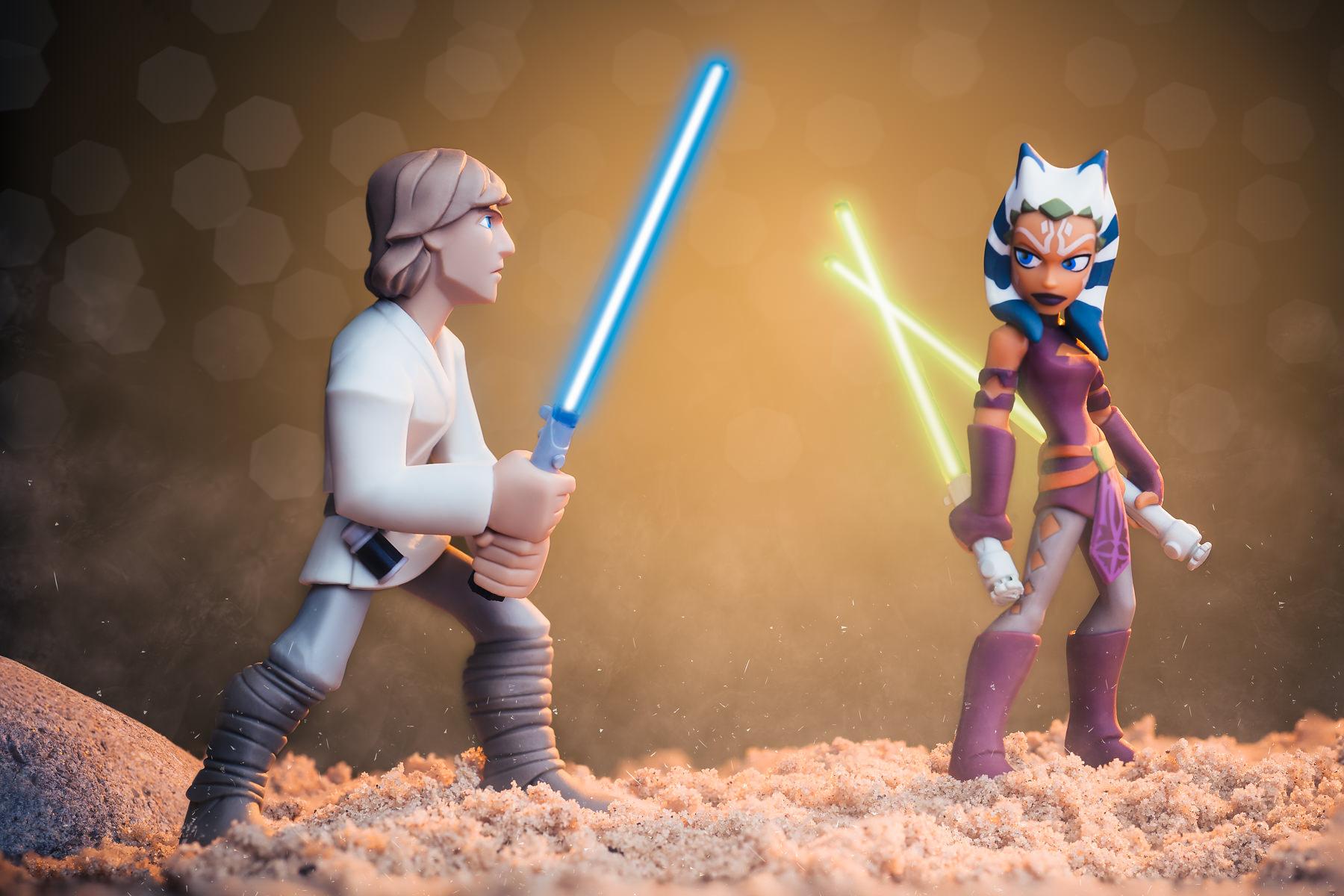 Luke Skywalker Vs Ahsoka Tano
