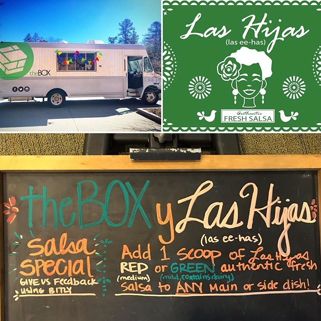 🚨💃🏽 Come support our spicy collab with theBOX x Las Hijas today and tomorrow! Add one scoop of Las Hijas red or green authentic fresh salsa to any main or side dish. Menu includes: pork carnitas, chicken, beef or chicken nachos, and chili cheese fries! Nos vemos / see you there ‼️❤️🔥 . . . Las Hijas (las ee-has), which in Spanish means The Daughters, is T'19 salsa venture whose background is rooted in family recipes being passed down across generations of women and the tradition continues with their all female team with Lucy Cevallos, Shawnda Duvigneaud, and Elizabeth Jiménez.