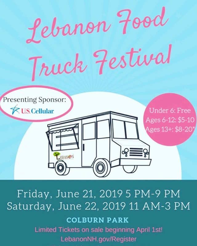 Summer is officially here, and we're cooking up something fun to celebrate!  Visit us at the Lebanon Food Truck Festival this Friday and Saturday at Colburn Park. You can find more information about the event, including ticketing, at: https://lebanonnh.gov/foodtruck  We hope to see you there!!