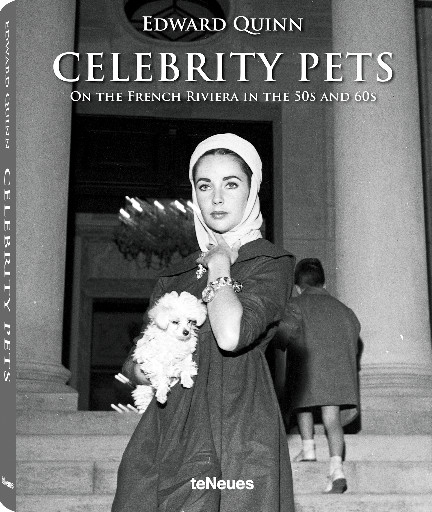© Celebrity Pets - On the French Riviera in the 50s and 60s by Edward Quinn, to be published by teNeues in September 2014, www.teneues.com. Elizabeth Taylor stands with one of her two Miniature Poodles in front of Villa Fiorentina. Saint-Jean-Cap-Ferrat 1957, Photo © 2014 edwardquinn.com. All rights reserved.