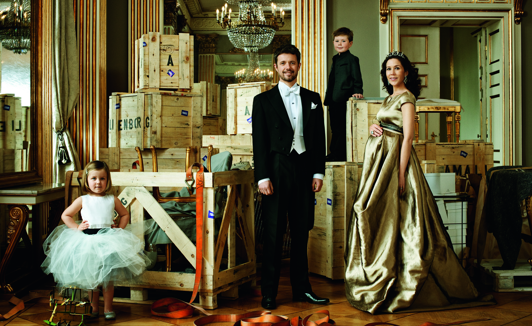 HRH Crown Prince Frederik, HRH Crown Princess Mary, HRH Prince Christian, HRH Princess Isabella Photo © 2016 Marc Hom. All rights reserved.