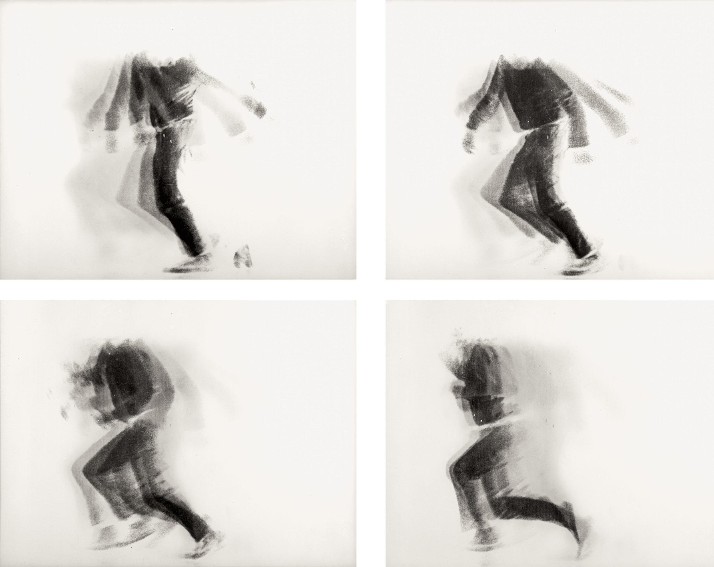 The Falling ManLinsenrasterfotografie, 4 Ansichten © Nachlass Alfons Schilling