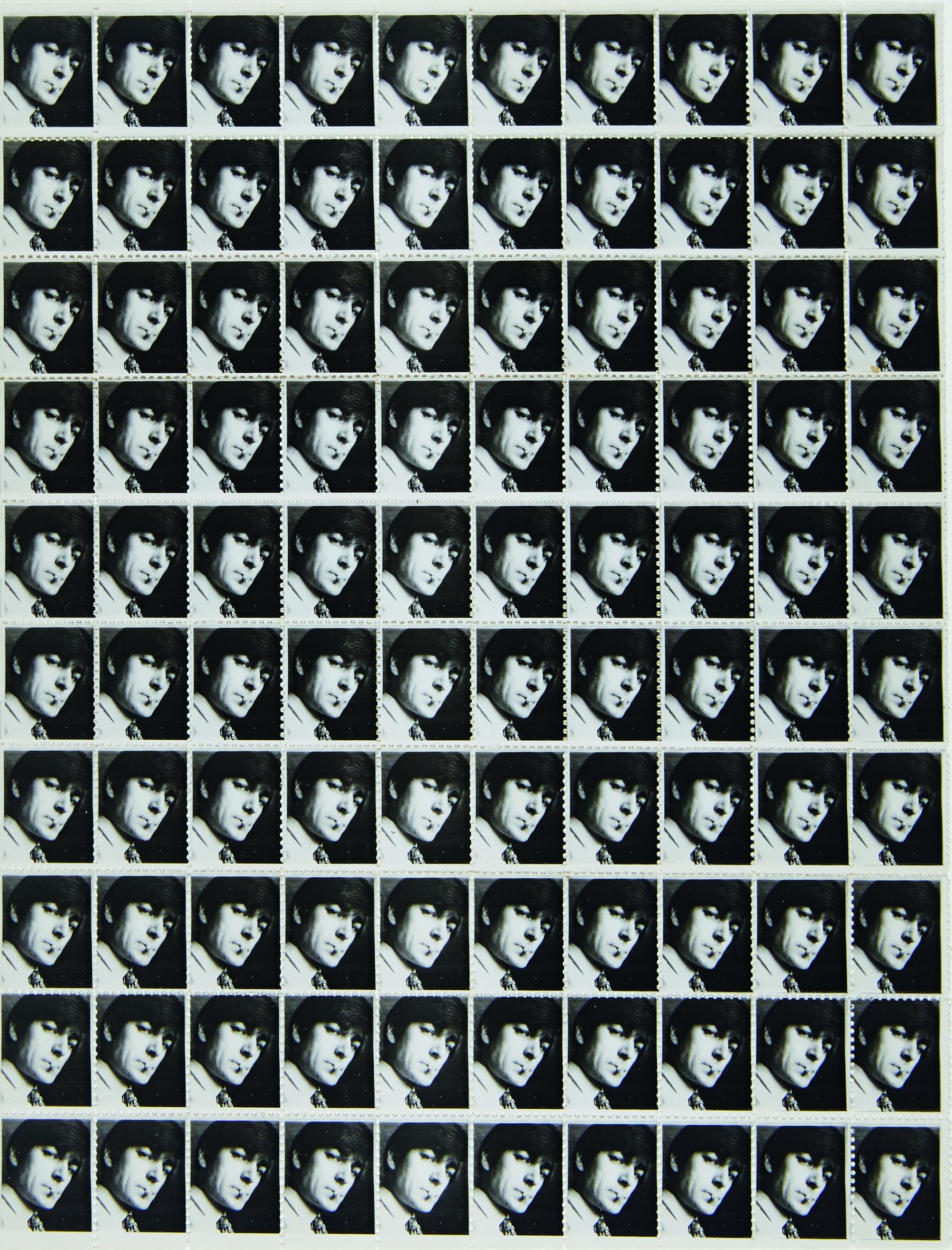 Selbstportrait als Briefmarke  © Nachlass Alfons Schilling
