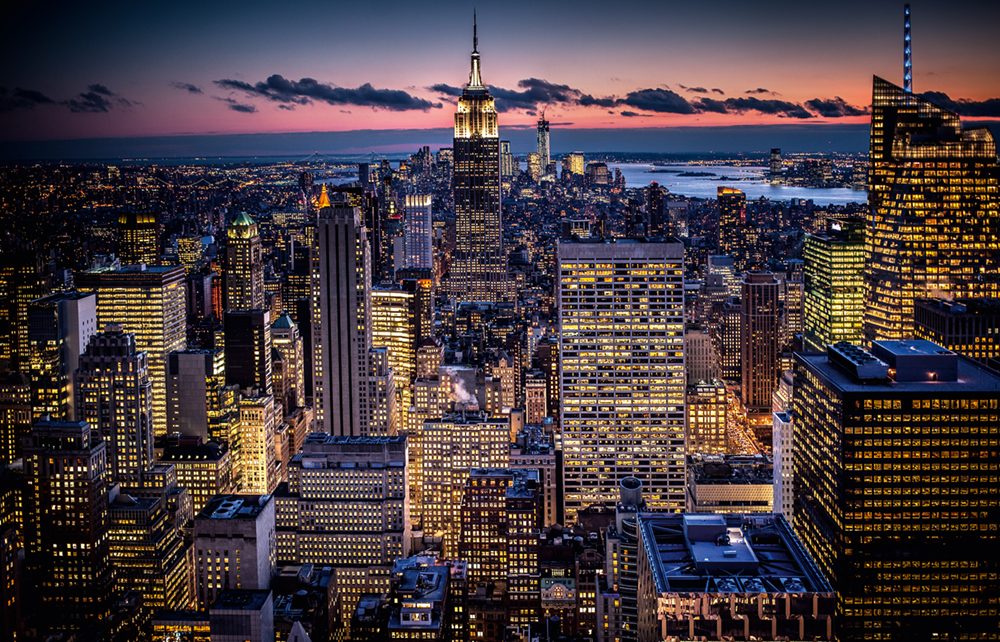 Lower Manhattan, View from Rockefeller Center, 2013  Photo © 2017 Bernhard Hartmann.All rights reserved.