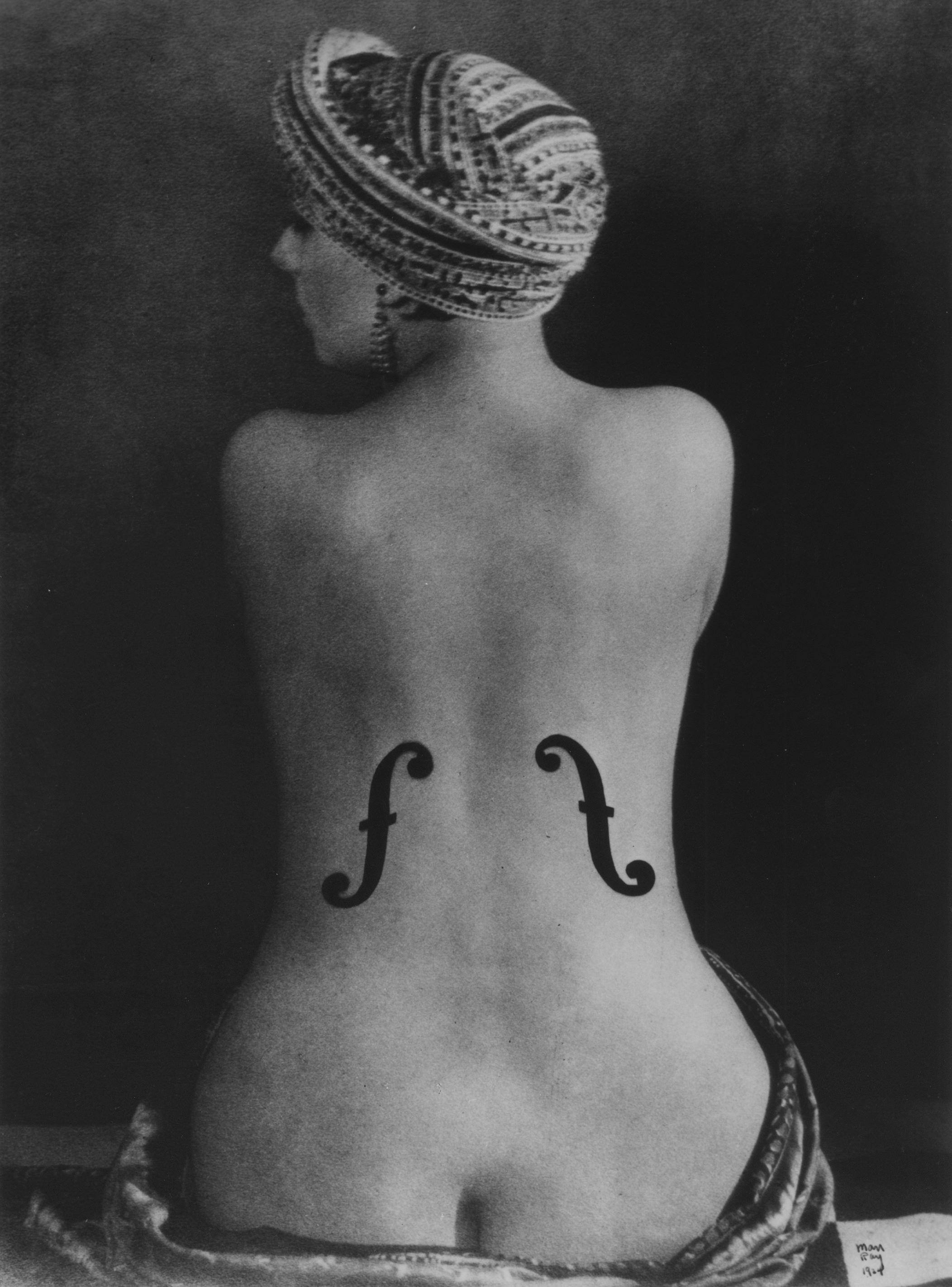Man Ray  Violon d'Ingres, 1924 (1990) Courtesy Galerie Johannes Faber © MAN RAY TRUST/Bildrecht, Wien, 2017/18
