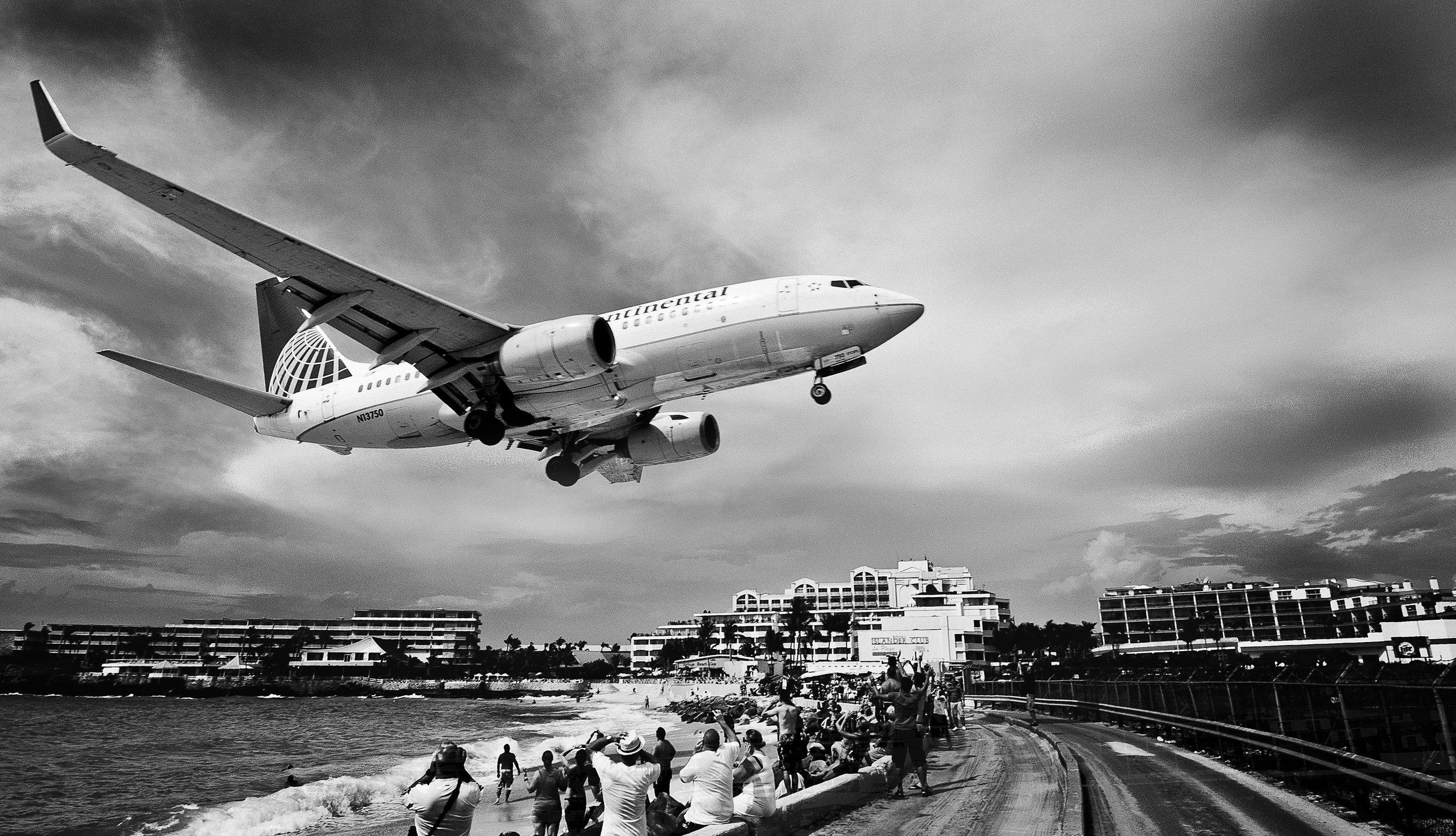 Landeanflug - Sint Maarten