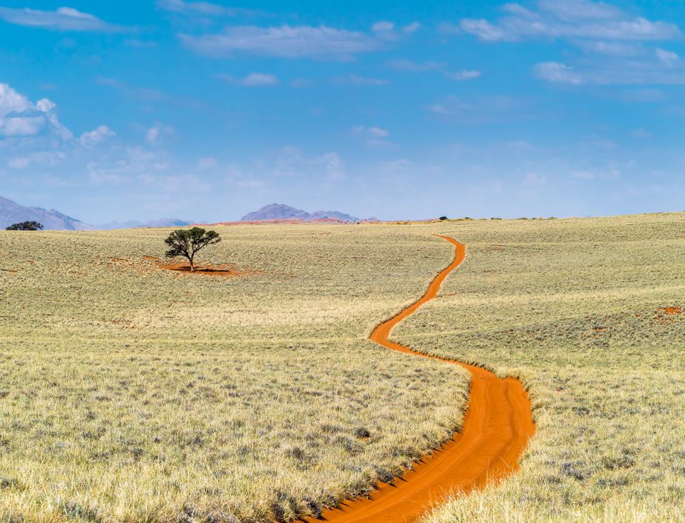The path snakes its way through the barren,  uninhabited landscape  Photo © 2018 Michael Poliza. All rights reserved.  www.michaelpoliza.com