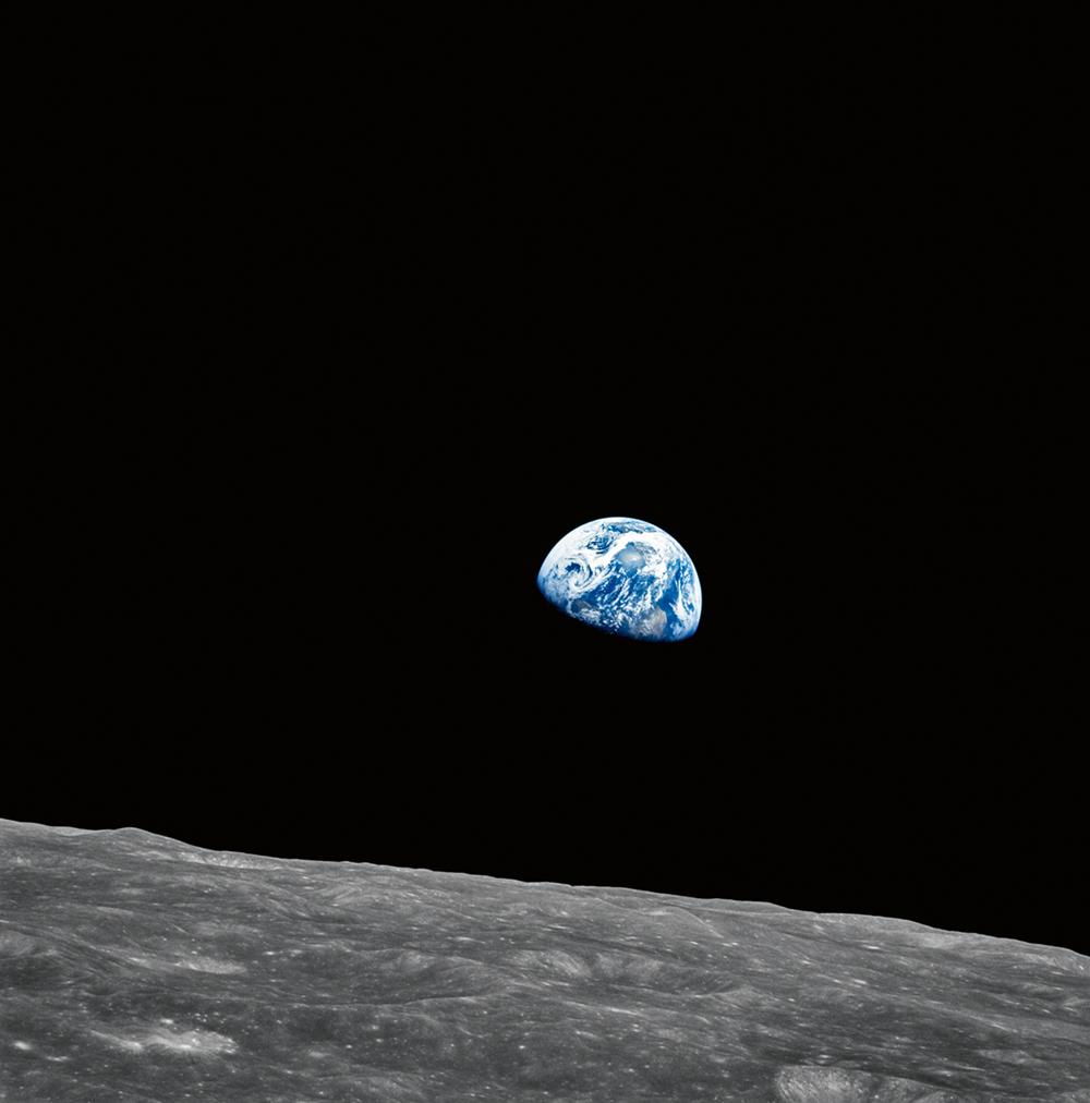 Apollo 8  Photo © courtesy of The National Aeronautics and Space Administration (NASA) photographic archives