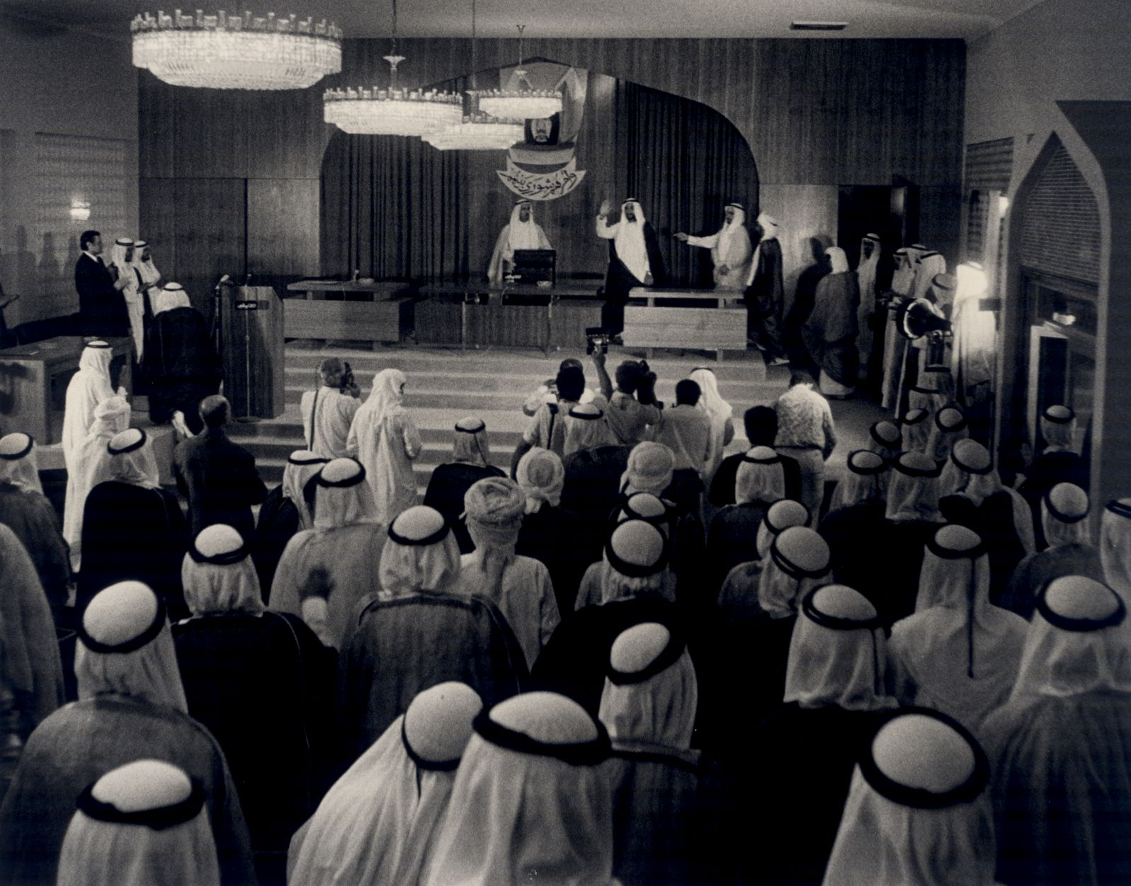 5. The late Sheikh Zayed Bin Sultan Al Nahyan attending the first session of the NCC © Al Ittiha.jpg
