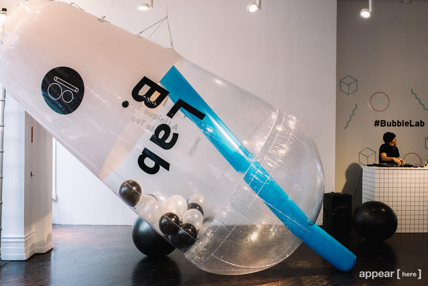 Bubble tea balloon. Photo credit: AppearHere