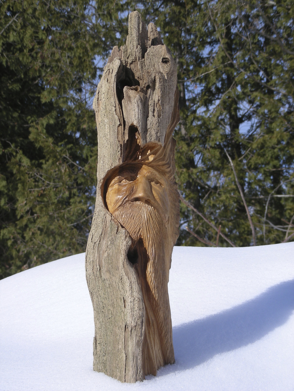 Wood Spirit Carving