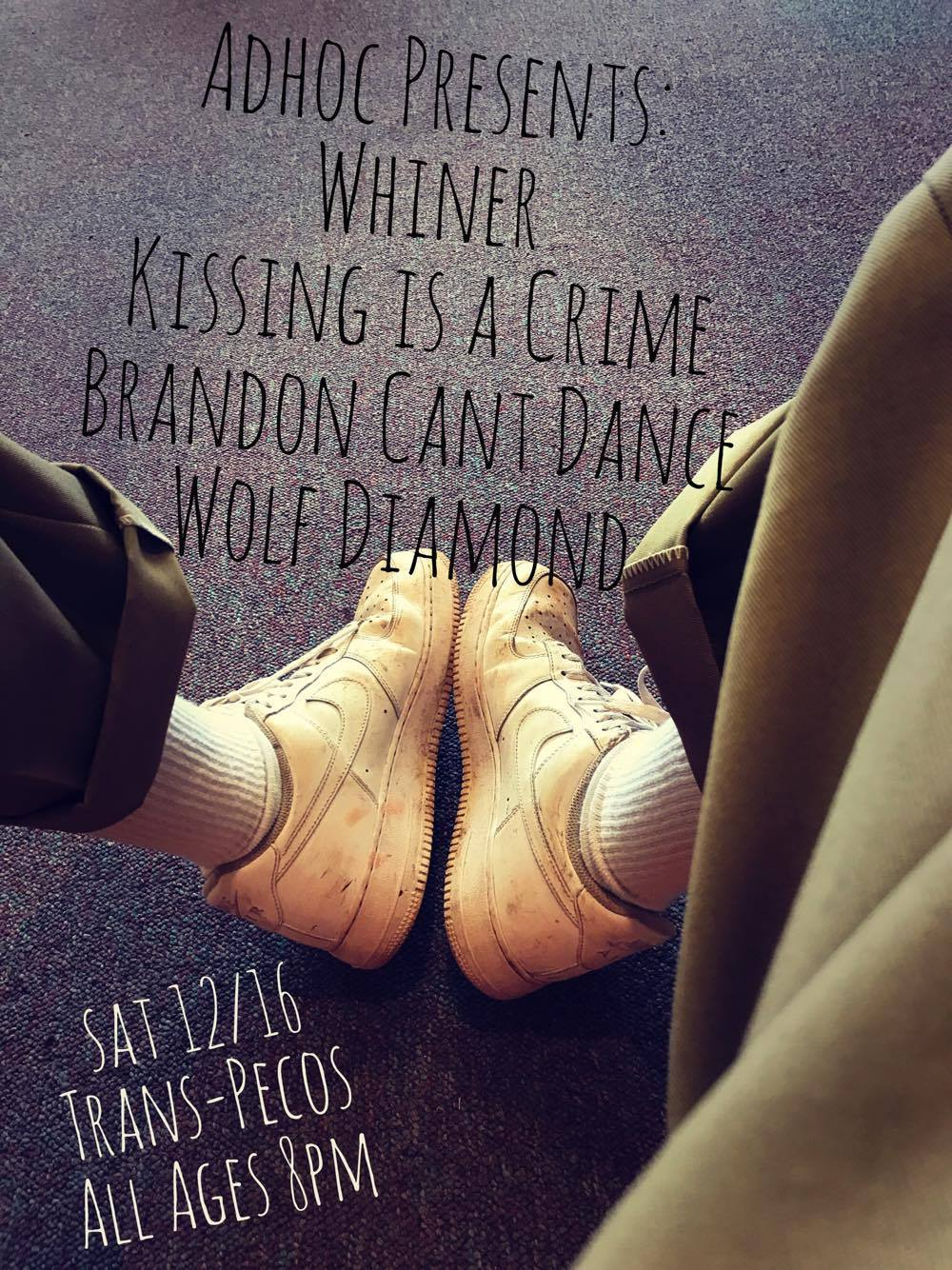 Whiner   Kissing Is A Crime   Brandon Can't Dance   Wolf Diamond