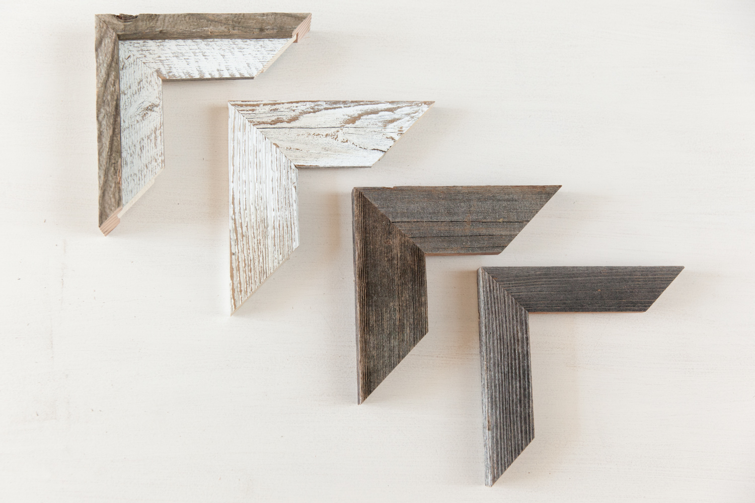 Barnwood frames are a custom option and all pieces are slightly unique
