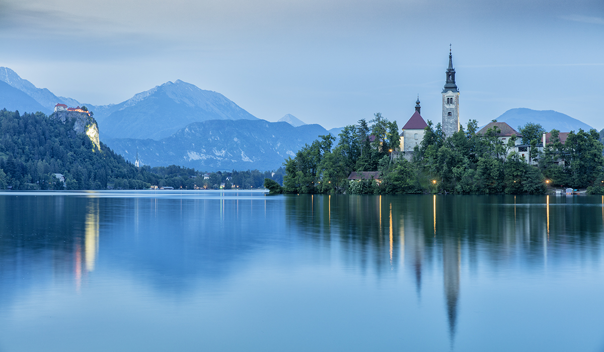 The Blue Hour at Lake Bled