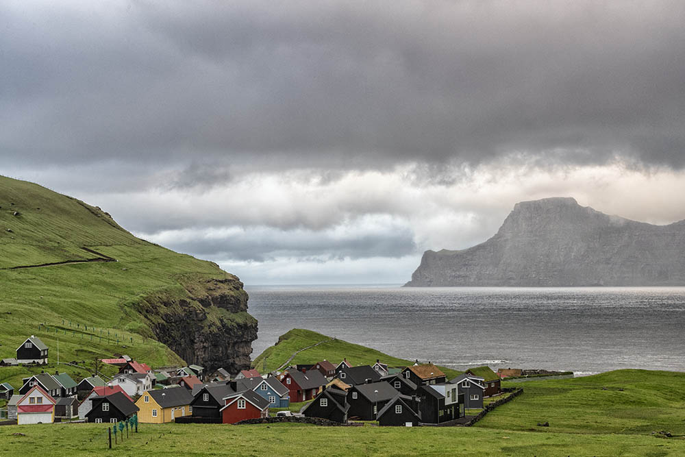 Coastal Village Faroe Islands