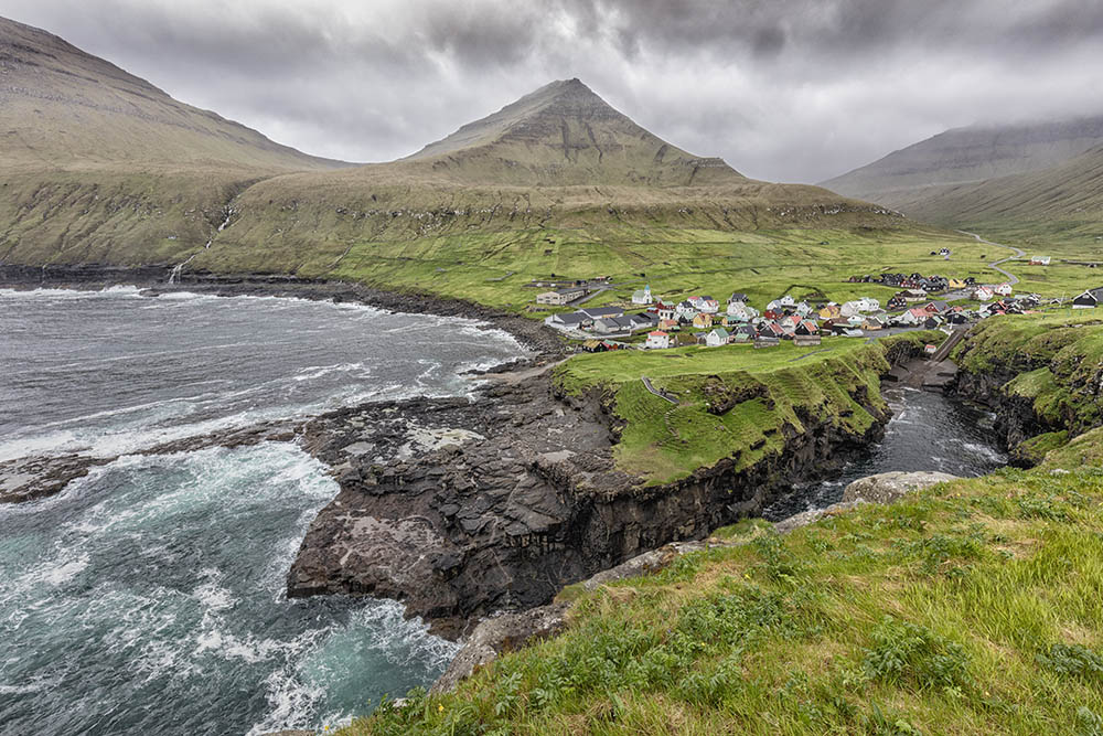 Faroe islands Coastal Village