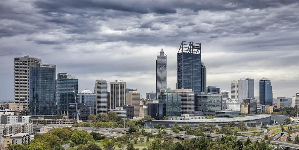Perth City Skyline Perth WA