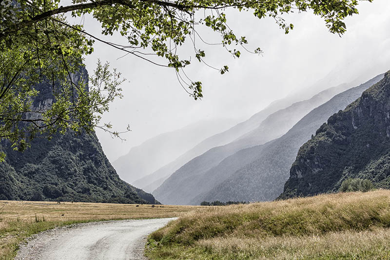 Rain in Mount Aspiring NP S.I NZ