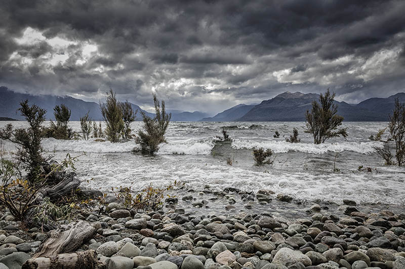 Lake Te Anau in Angry Mood
