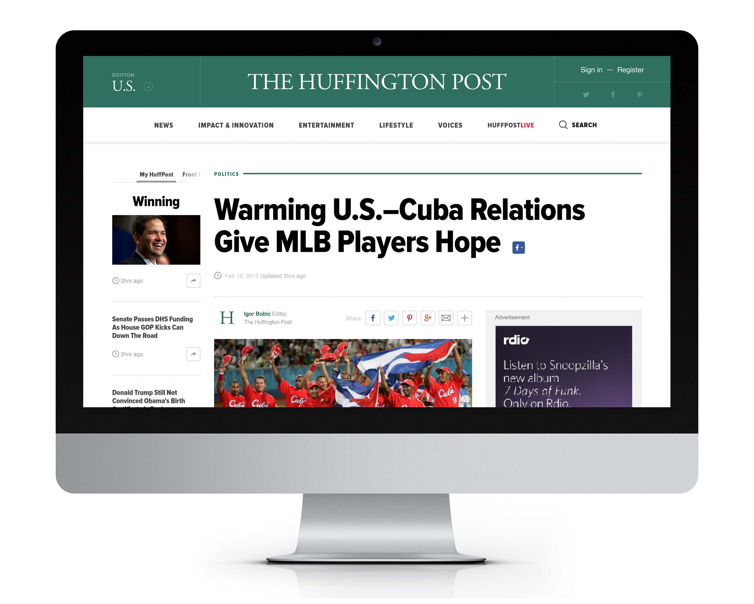 Article Page - Desktop