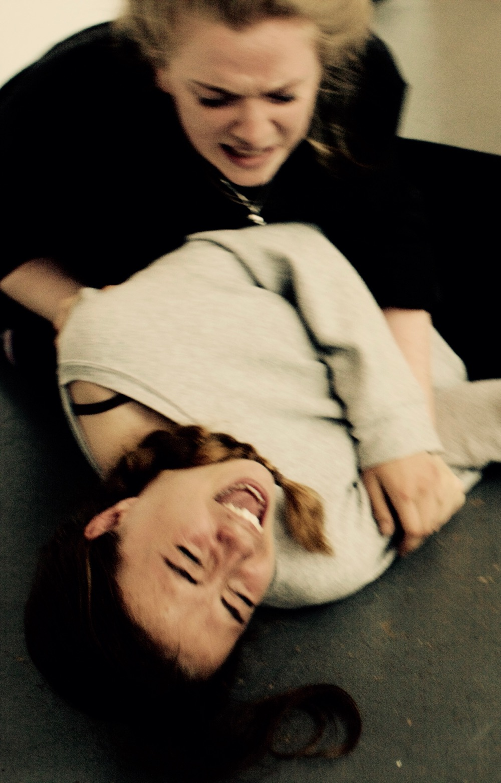 Lucy Standen and Rhiannon Locke in Rehersal at the Red Brick Building Glastonbury.