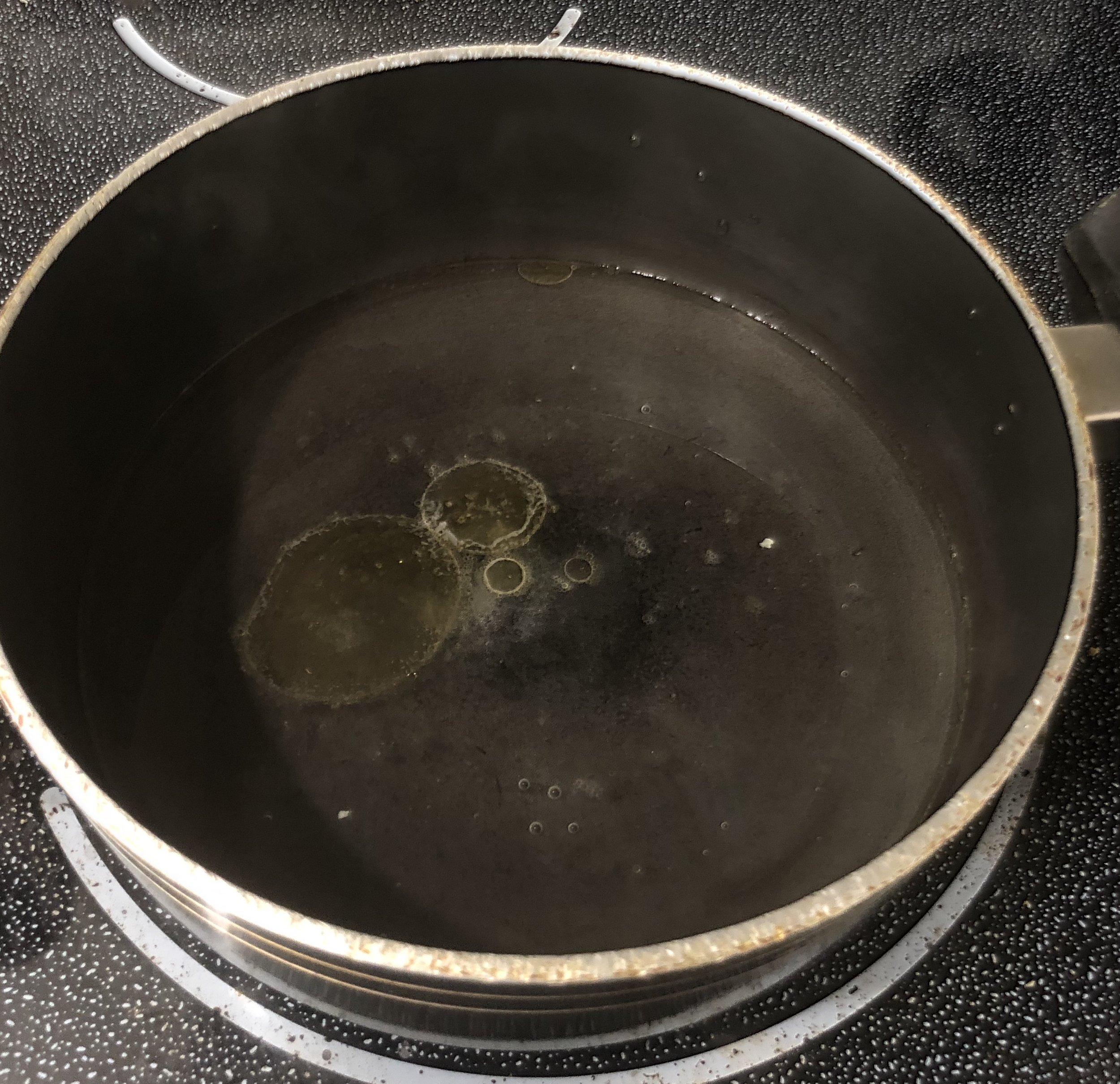 Boil: water+butter+salt