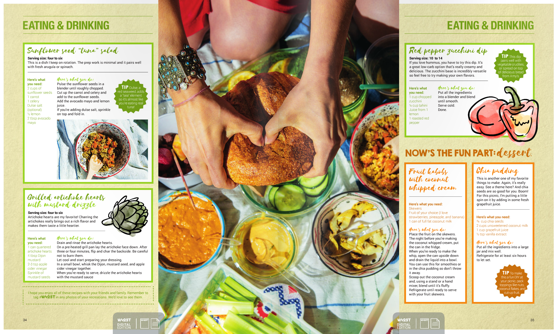The food was as important as the subjects, the details are key in the type of editorial
