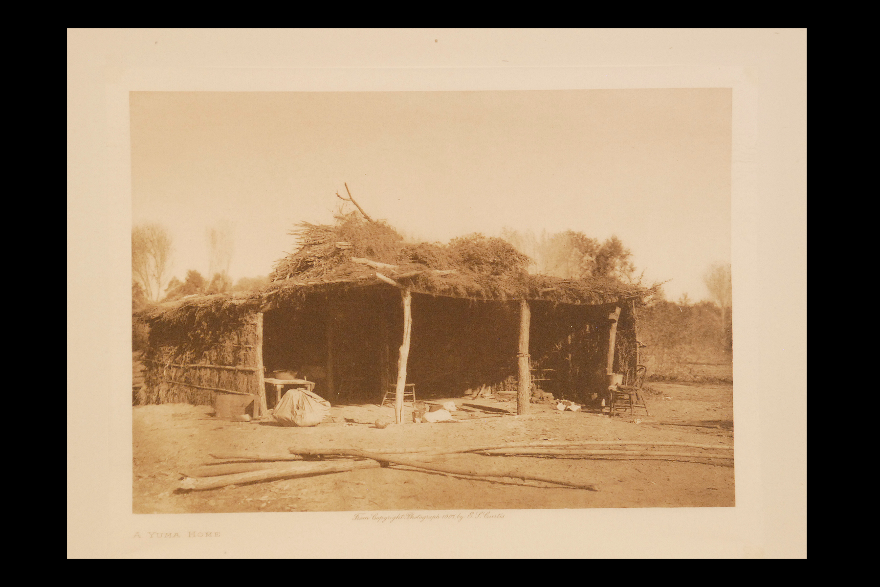 """A Yuma Home"" 1907 Vol.2 Tissue Print Vintage Photogravure"